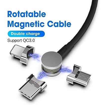 Amazon.com: MOSHOU Cable USB magnético cargador de teléfono ...