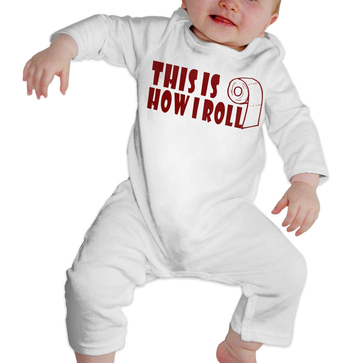 LBJQ8 This is How I ROLL-1 Baby Infant Girls Essential Basic Romper Jumpsuit Outfits Clothes