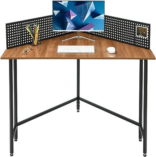 Saygoer Computer Desk Industrial Corner Table