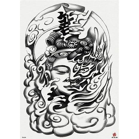Pegatinas de tatuaje de espalda completa Da Zhang Erlang God ...