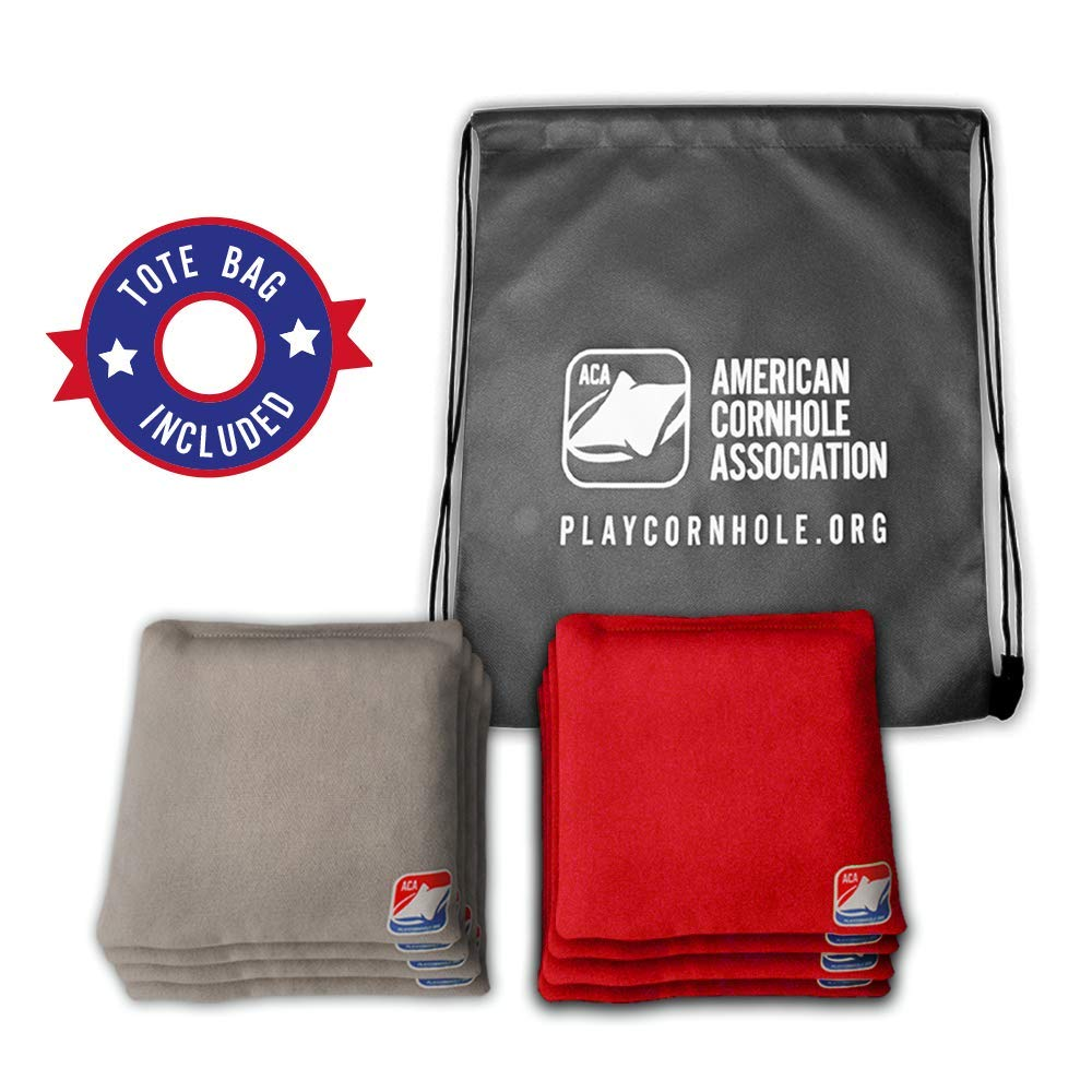 Official Weather-Resistant Cornhole Bags from The American Cornhole Association 6'' All-Weather Double-Stitched Resin-Filled Bean Bags for Corn Hole Outdoor Game - Regulation Size by ACA American Cornhole Association