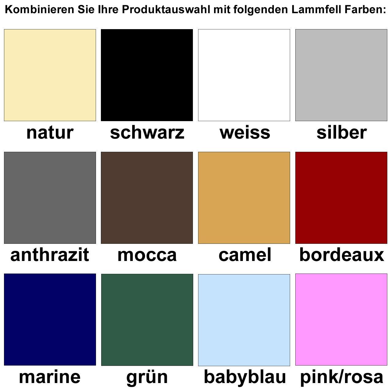 mit 12 Lammfell Farben kombinierbar! Engel Reitsport Lammfell Schabracke Stoff Camel Schabra 1 farbenfroh