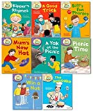 Oxford Reading Tree Read With Biff Chip Kipper Phonics & First Stories Collection 8 Books Set Level 1 & 2 Kipper's Rhymes, Biff's Fun Phonics, A Good Trick, The Pancake, Win a Nut, A Yak at the Picnic, Mum's New Hat and Picnic Time...