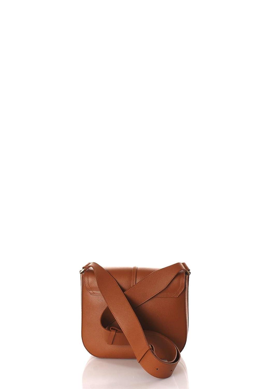 Patrizia Pepe Glam Leather Easy Lock Sac /à bandouli/ère brun