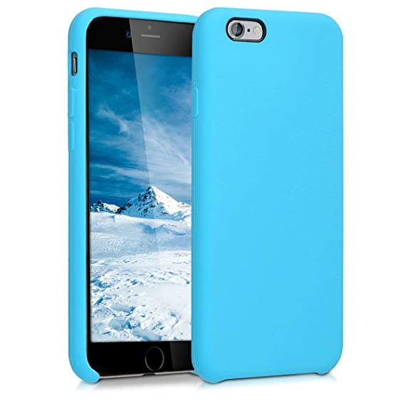 hot sale online 56995 e7660 kwmobile TPU Silicone Case for Apple iPhone 6 / 6S - Soft Flexible Rubber  Protective Cover - Light Blue