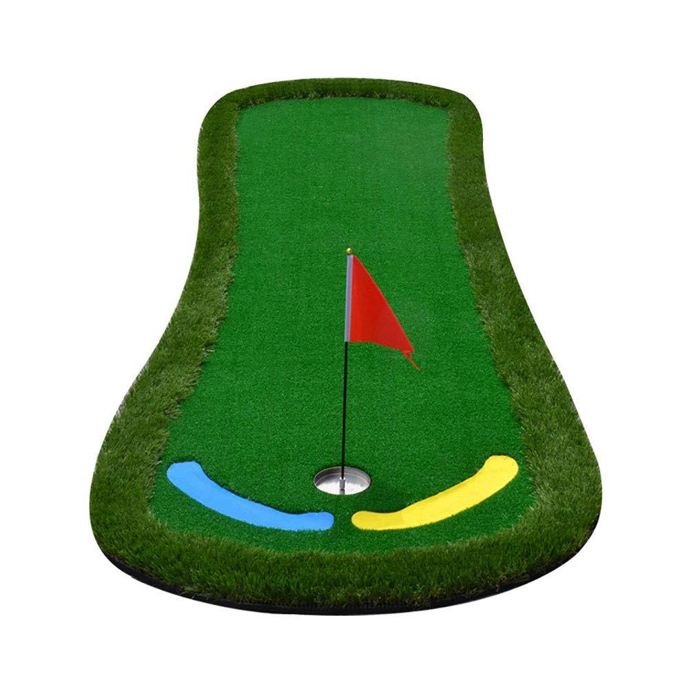 ZB 室内と屋外のゴルフマット - グリーンパットの練習 - ゴルフフェアウェイ - 練習ブランケットセット - 大きな足の形のサイズ:95x300cm A+ (色 : A)  A B07JKTPRLV