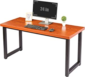 "TOPSKY 59"" Big Large Computer Office Desk 1.18"" Board + 0.7"" Frame Cherry"