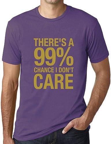 Hombre Camiseta Gráfico tee Shirt Theres a Chance I Dont Care Púrpura Claro: Amazon.es: Ropa y accesorios