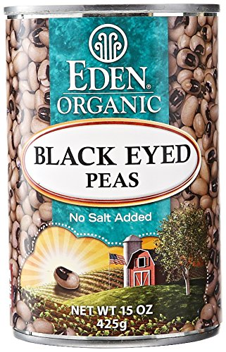 Eden Organic Canned Peas, Black Eyed, 15 oz