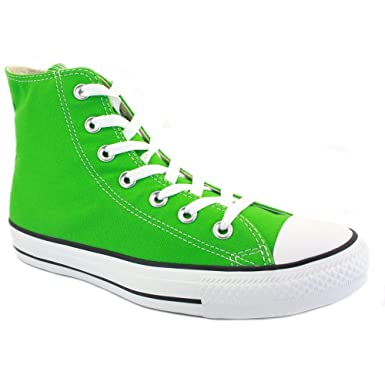 7f125763bc12 Converse All Star Hi Chuck Taylor 130114C Unisex Laced Trainers Classic  Green - 10