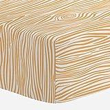 Carousel Designs Light Orange Woodgrain Crib Sheet - Organic 100% Cotton Fitted Crib Sheet - Made in The USA