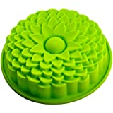 "Longzang 9"" Sunflower Bread Pie Flan Tart Birthday Party Cake Silicone Mold Pan Bakeware"