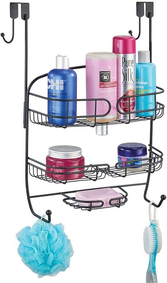 mDesign Colgador para ducha – Práctica estantería de ducha para ...