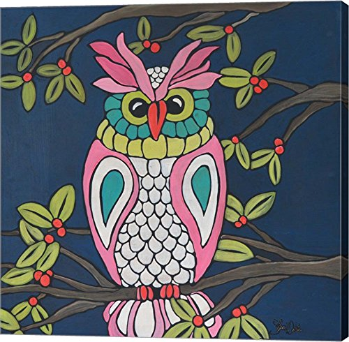 Owl by Shanni Welsh Canvas Art Wall Picture, Gallery Wrap