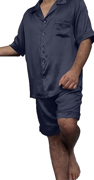 Silkmood - Pijama - para Hombre Azul Marino Small