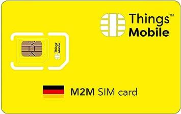 3g karte deutschland DATEN SIM Karte M2M DEUTSCHLAND   Things Mobile   mit: Amazon.de