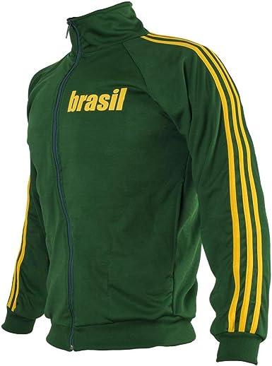 JL Sport fútbol Chaqueta con Cremallera Verde de Brasil 1970 ...