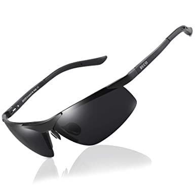 abee56afab1 Duco Men s Sports Style Polarized Sunglasses Driver Glasses 6806S (Black  Frame Gray Lens)