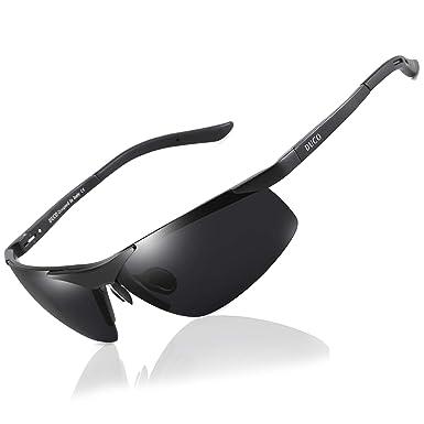 ac7d272edab Duco Men s Sports Style Polarized Sunglasses Driver Glasses 6806S (Black  Frame Gray Lens)