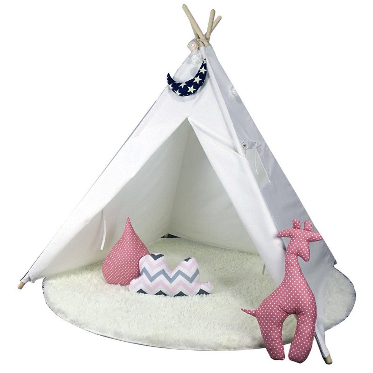 Rwy Indisches Innenzeltspielhaus-Zeltspielzeug 3 Jahre Alte Babyprinzessinraum,Weiß