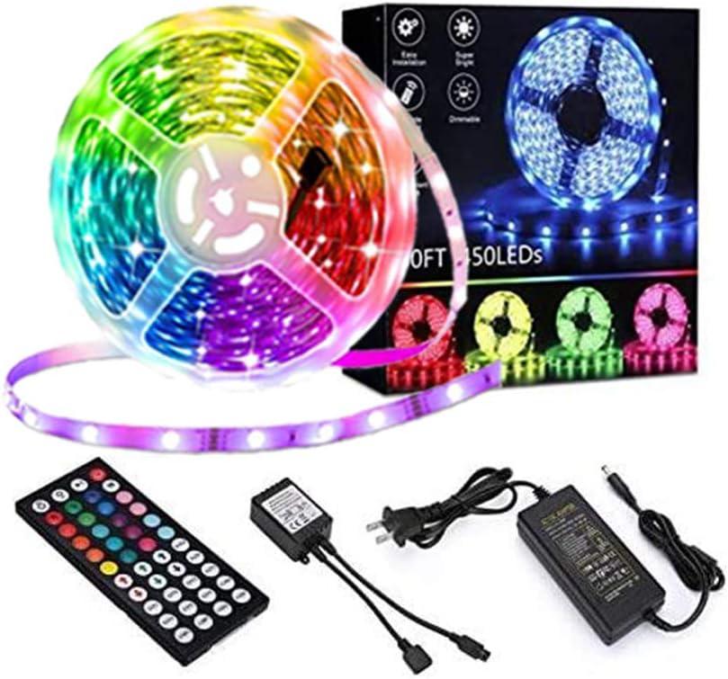 Onforu 50ft LED Strip Lights for Bedroom 15m RGB LED Light Strip with Remote,