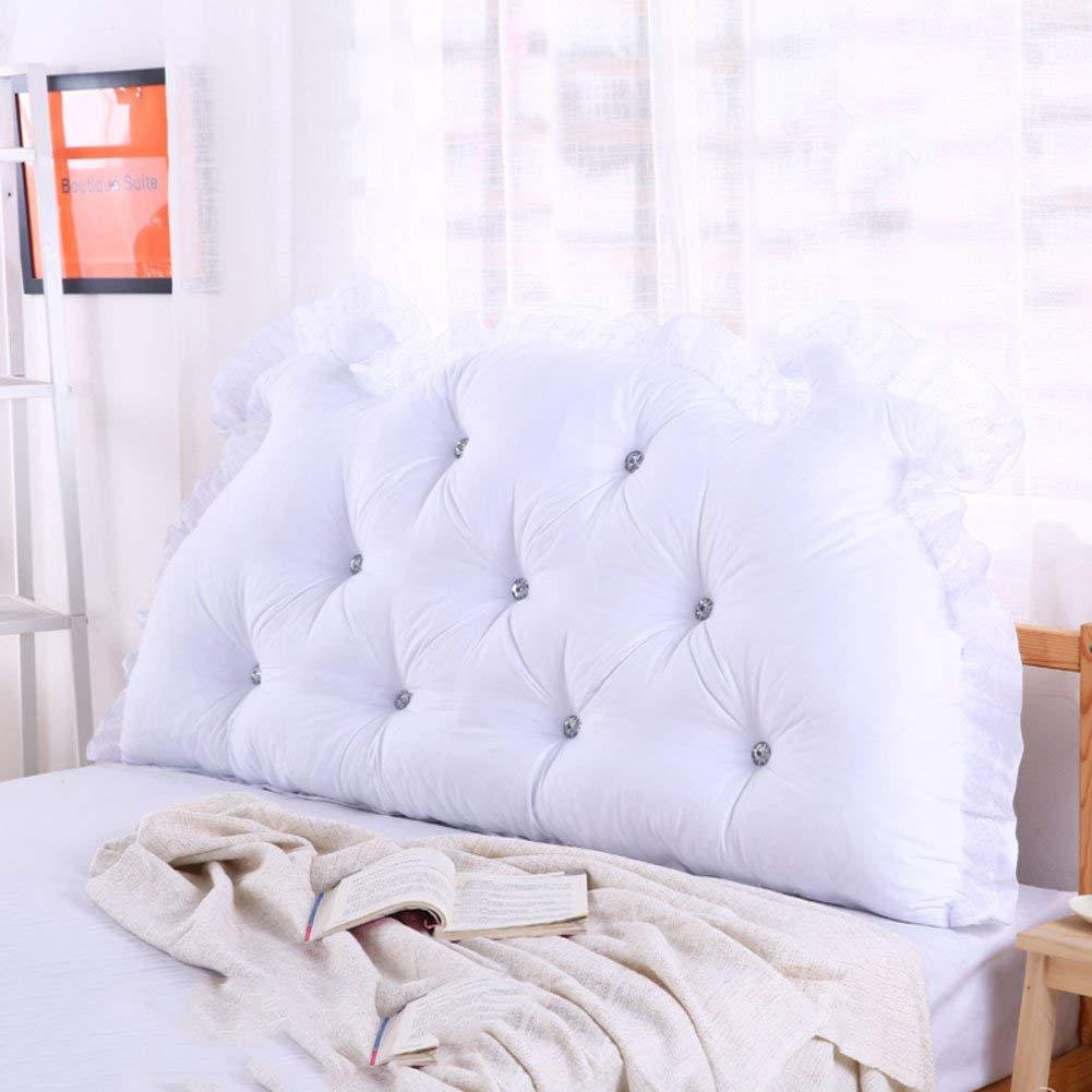 Nanwu ベッドサイドの読書枕背部クッション、ソファーマットクッション100%綿背もたれ位置決めサポート枕 (Color : F, サイズ : 110x70x15cm(43x28x6inch)) B07S7C413F