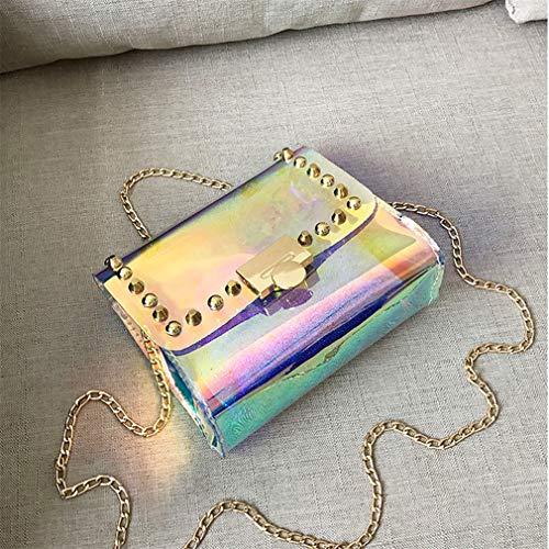 de la de Hombro Mensajero Mensajero Mujeres Las de Transparentes Multicolour de la del Multicolour Jalea Bolsa Bolsos de xwq8YFIx