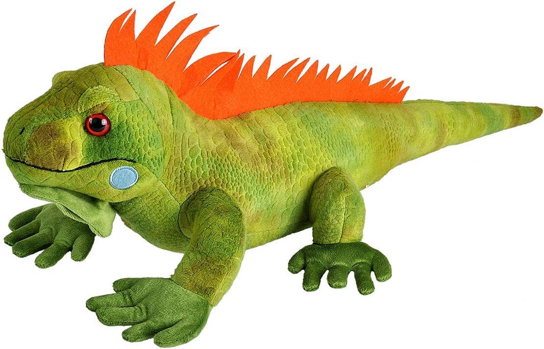Wild Republic-12905 Peluche Iguana Cuddlekins, Color Verde (12905)