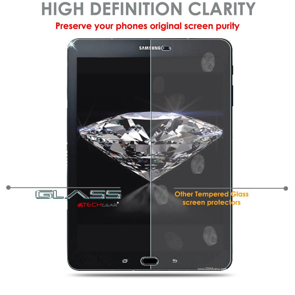 SM-T820 Autentica Pellicola Protecttiva in Vetro Temperato Salvaschermo per Samsung Galaxy Tab S3 9.7 TECHGEAR Vetro Temperato Compatibile con Galaxy Tab S3 9.7 Pollici