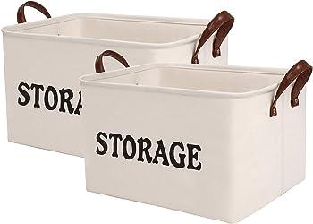2 Pack Shinytime Canvas Storage Basket