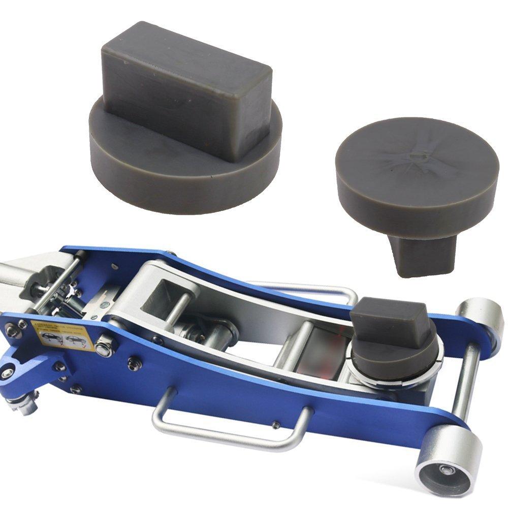 Ictronix Support en caoutchouc gaufré en forme d'écrou 68x 40mm Pour pont élévateur/cric