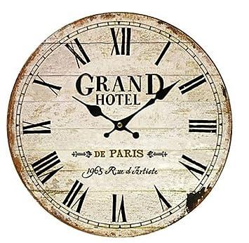 Grande Reloj de pared para salón país pared relojes lujo grandes decorativas y reloj de pared Vintage Madera: Amazon.es: Hogar