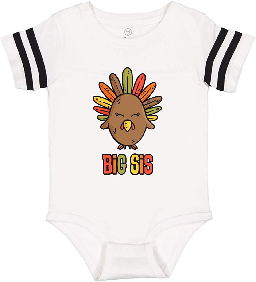 inktastic Cute TG Turkey Big Sis Infant Creeper