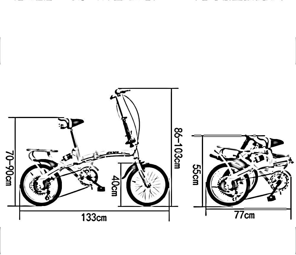Bicicletas para niños FEIFEI Bicicleta plegable bicicleta ...