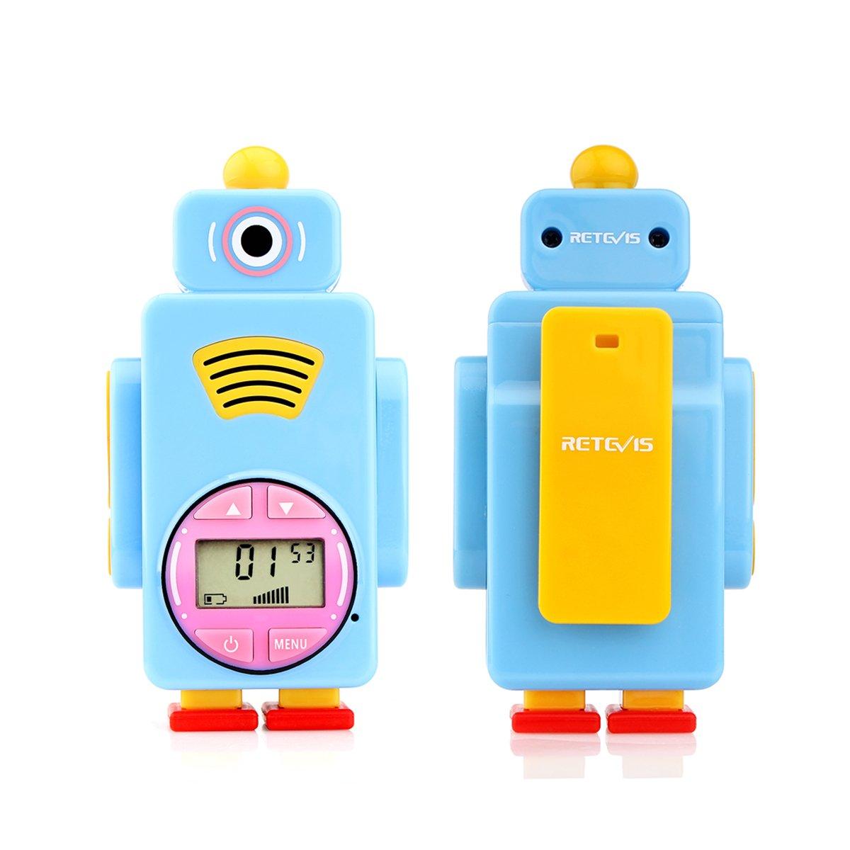 Retevis RT36 Kids Walkie Talkies Rechargeable Battery USB Charging Flashlight Long Range Crystal Sound License Free Walkie Talkies for Kids (Blue,2 Pack) by Retevis (Image #4)