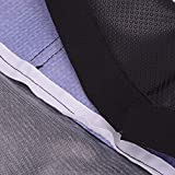 Blue/Black Gripper Soft Motorcycle Seat Cover for