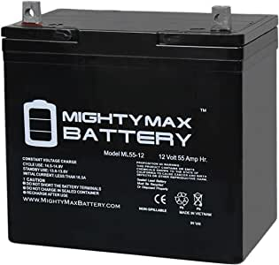 Mighty Max Battery 12V 55Ah Power Boat Pontoon Electric Trolling Motor Deep Cycle Battery Brand Product