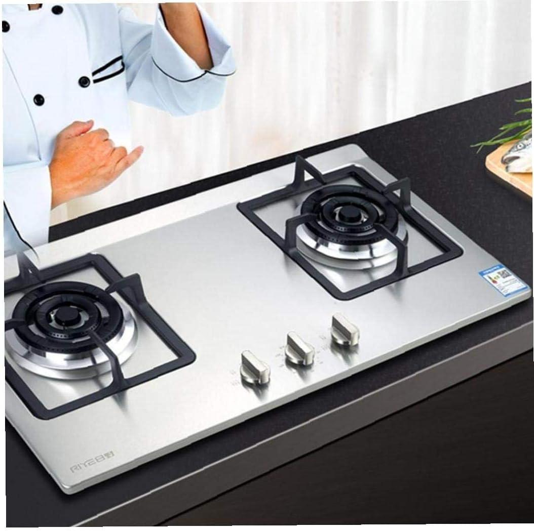 AMOYER Control de la Estufa de Gas de 2 Piezas de Metal de 6 mm de Plata Universal mandos de Control adaptadores Horno Interruptor Superficie de Cocina Locks