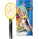 ZAP IT! Mini Bug Zapper - Rechargeable Mosquito, Fly Killer and Bug Zapper Racket - 4,000 Volt - USB Charging, Super…
