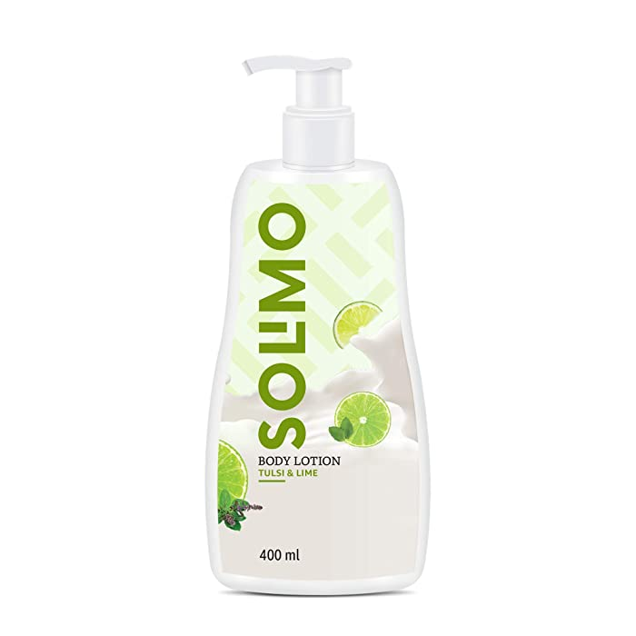 Amazon Brand - Solimo Tulsi & Lime Body Lotion, 400ml
