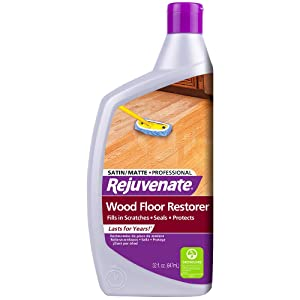 Rejuvenate Professional Wood Floor Restorer and Polish with Durable Finish Non-Toxic Easy Mop On Application Satin Finish 32oz