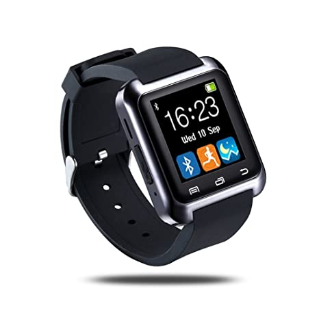 Amazon.com: U80 Bluetooth muñeca reloj inteligente teléfono ...