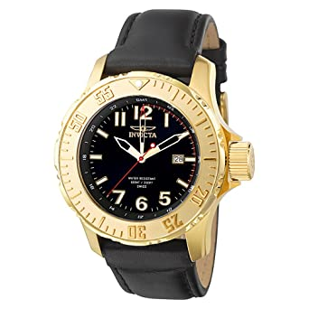 Invicta Mens F0058 Pro Diver Sport Collection GMT Gold-Tone Watch