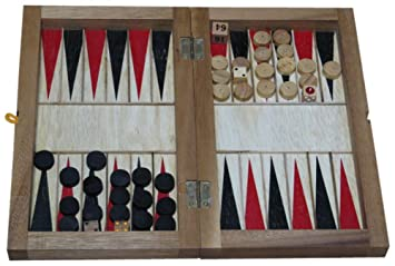 Amazon Com Braille Store Tactile Wooden Backgammon Game For Blind