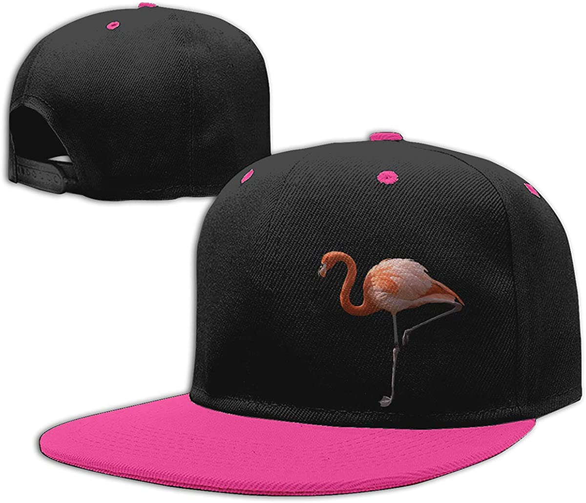 Flamingo Classic Flat Brim Baseball Caps Men Womens Dad Hat