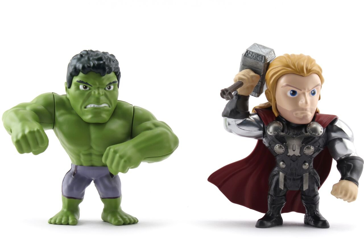 Jada Toys Metals Marvel 4 inch Classic Twin Pack M66 Hulk /& Thor US 97808