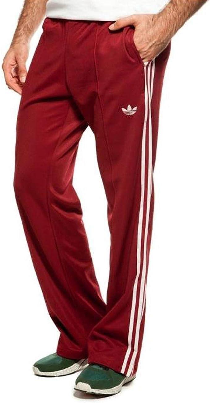 adidas Originals Beckenbauer Tp Pantalon de Survêtement Pantalon Pantalon Sport Rouge Bordeaux Bordeaux