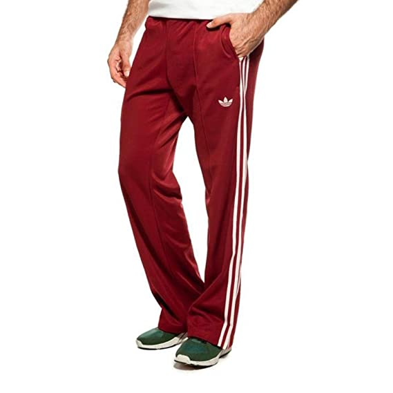 1b22d00a4 adidas Originals Beckenbauer TP Tracksuit Bottoms Sports Pants Wine Red  Red: Amazon.co.uk: Clothing