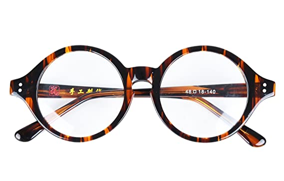 659d470d45b Image Unavailable. Image not available for. Color  Agstum Handmade Vintage  Round Optical Eyeglass Frame ...