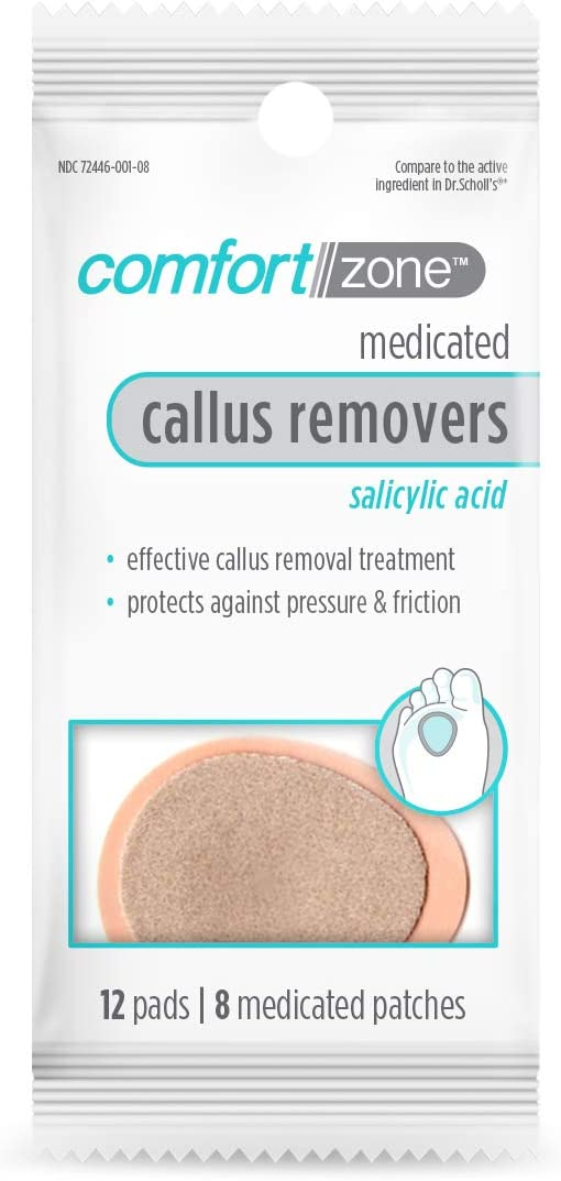 Comfort Zone Medicated Callus Removers, Effective Callus Removal Treatment with Salicylic Acid, 1 Pack, 20 Piece Set
